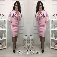 Женский модный костюм: свитшот и юбка (можно отдельно свитшот или юбку) (8 цветов), фото 1