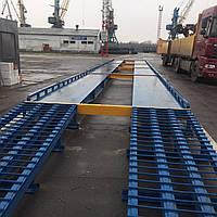 Весы автомобильные на сборном фундаменте с металлическими пандусами
