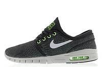 Кроссовки мужские Nike SB Stefan Janoski Max BlackWolf Grey-Flash Lime