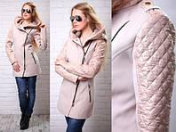 """Женское пальто """"Зара"""" с капюшоном"""