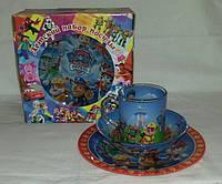 Стеклянная детская посуда Щенячий Патруль набор