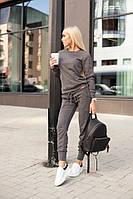 Женский стильный повседневный костюм: кофта и брюки (3 цвета)