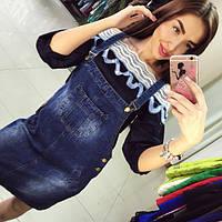 Женский модный джинсовый комбинезон , фото 1