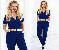 Женский стильный комбинезон штанами больших размеров (2 цвета), фото 1