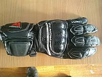 Мото перчатки Venom Cobra черные кожаные краги