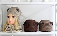 """Женская шапка """"Кошечка"""" (5 цветов), фото 1"""
