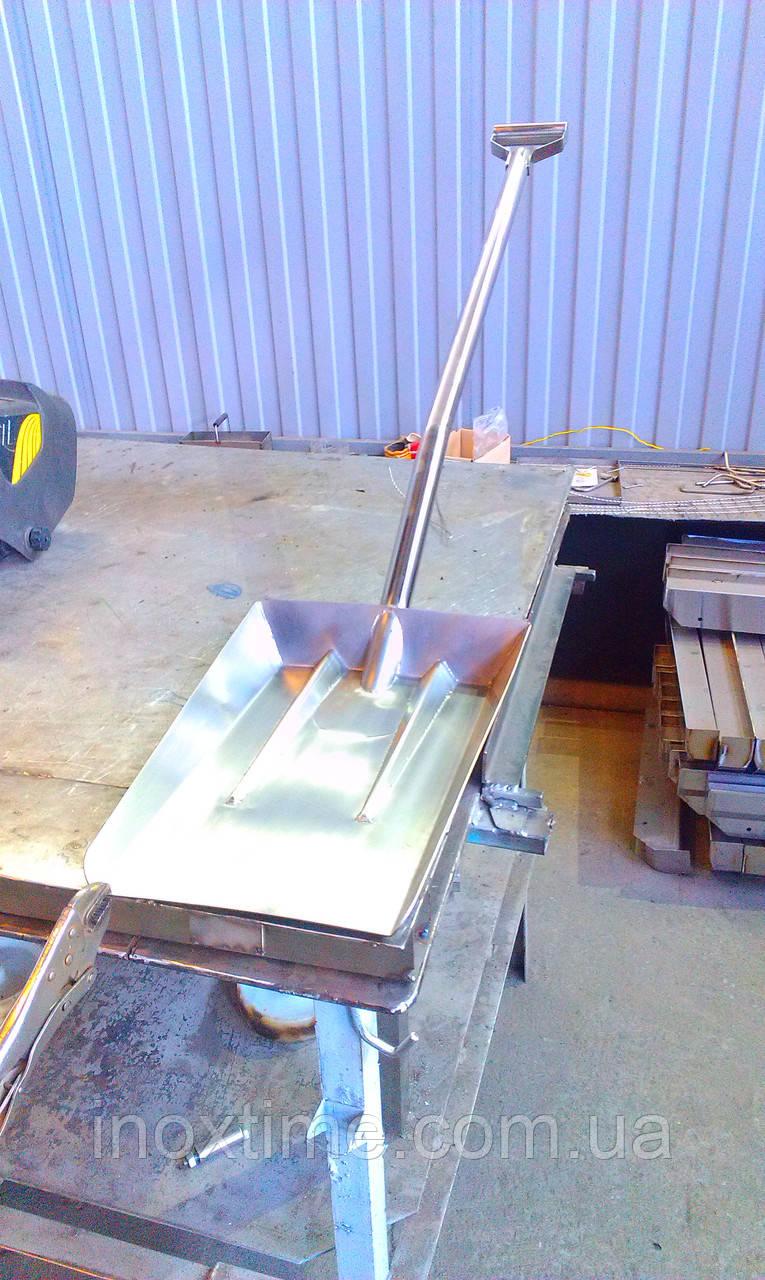 Лопата для снігу з нержавіючої сталі