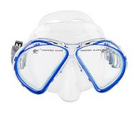 Маска для плавания и снорклинга Dolvor М 293P (синий)