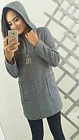 Женское твидовое пальто на молнии, фото 1