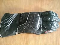 Мото перчатки Venom Corsa GP черные кожаные краги, фото 1
