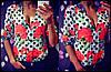 """Женская шифоновая блуза в горошек """"Маки"""" (2 цвета)"""