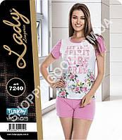 Женская пижама Lady Lingerie 7240, домашний костюм майка и шорты