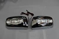 Корпус зеркала  LED хромированные для Mercedes W-210 95-