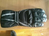 Мото перчатки Thinsulate черные кожаные краги утепленные