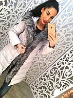 Женская стильная теплая зимняя куртка (2 цвета) Л, белый