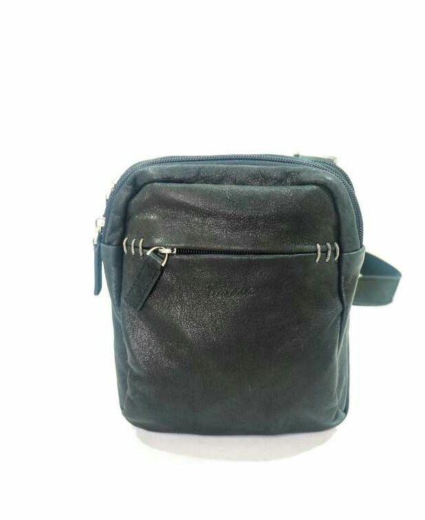 Маленькая мужская кожаная сумка на два отделения   продажа, цена в ... 8759a547583