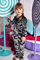 Детский стильный велюровый костюм (2 цвета), фото 1
