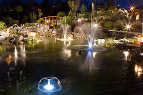 Освещение для пруда, подсветка водных каскадов и фонтанов 8