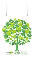 Биоразлагаемые  - пакеты майка 29*47 Дерево Эко, GoodPack