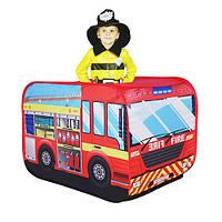 Палатка детская в форме машины, (красный автобус)
