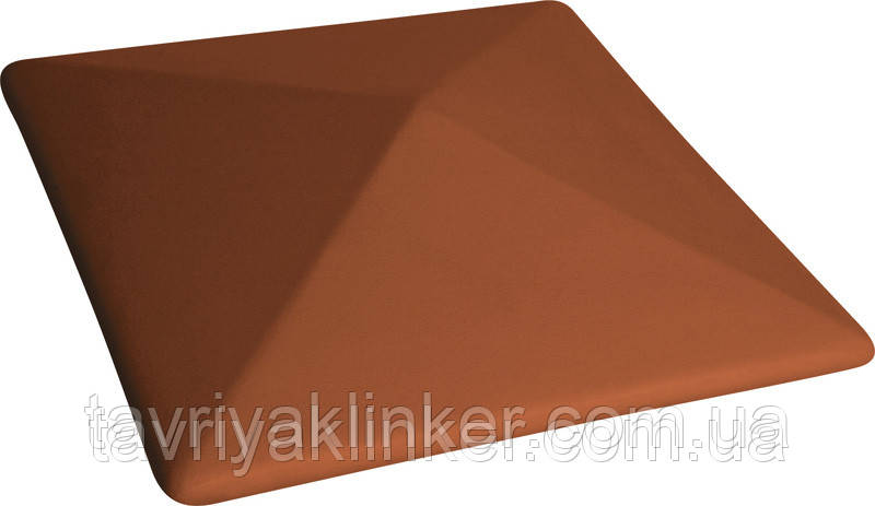 Клинкерная крышка на забор KingKlinker  красный (01) 445x445x90мм