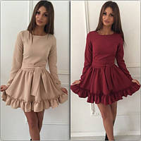 Женское стильное платье-рюши (2 цвета)