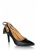 Черные туфли с вырезами на заднике K105B