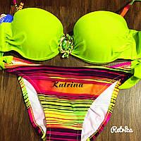 Женский очень красивый купальник с брошкой (3 цвета) 36
