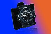 Мужские наручные тактические часы skmei 1155 (чорні)