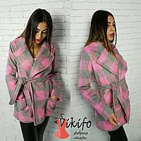 Женское модное демисезонное пальто с поясом (3 цвета)
