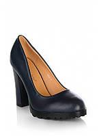 Синие туфли на устойчивом каблуке 688-1BL