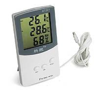 Цифровой термометр часы ТА338, фото 1