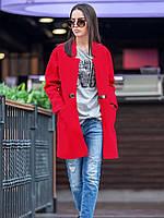 Женское красивое пальто прямого кроя (6 цветов), фото 1