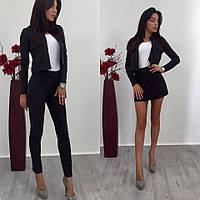 Женский стильный комплект: пиджак, юбка, брюки (можно купить как костюм-двойка или тройка), фото 1