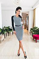 Женское красивое платье-миди в гусиную лапку, фото 1