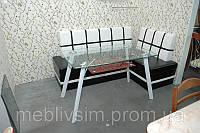Стол стеклянный кухонный Вегас