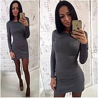 Женское модное замшевое платье (2 цвета), фото 1