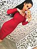 Женское модное платье с размером сбоку (3 цвета)