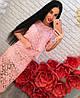 Женский очень красивый гипюровый костюм-двойка: блуза и юбка (2 цвета)
