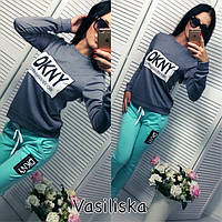 """Женский модный спортивный костюм """"DKNY"""" (4 цвета), фото 1"""