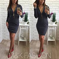 Женское модное платье с молнией (6 цветов), фото 1
