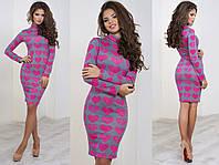 Женское стильное платье из ангоры в сердечко (3 цвета), фото 1