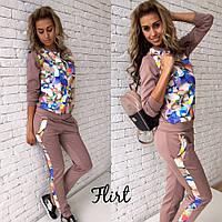 Женский шикарный костюм: кофта на молнии и штаны  М