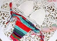Женский стильный купальник с вызаным верхом, фото 1