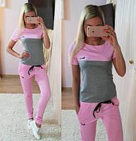 """Женский стильный костюм: футболка и штаны """"Nike"""" (5 цветов), фото 1"""