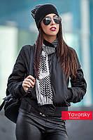 Женский шикарный комплект: шапка и шарф (3 цвета) горчица