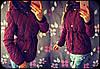 Женская стильная теплая куртка-парка с капюшоном (4 цвета) бордо, S