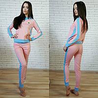 Женский стильный костюм: кофта и штаны (5 цветов) голубой