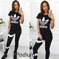 """Женский стильный спортивный костюм """"Adidas"""" (2 цвета), фото 1"""