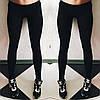 Женские модные черные лосины
